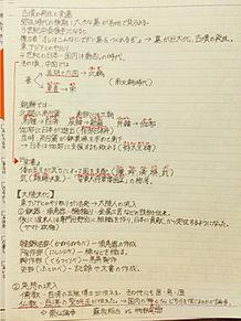 ノート 日本史B 勉強