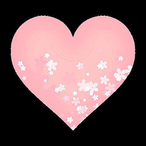 桜 ハートの画像 プリ画像