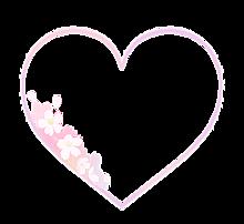 桜 ハートの画像(加工用に関連した画像)
