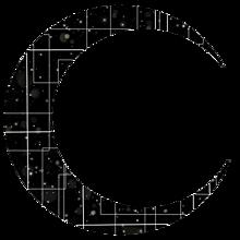 月 シルエットの画像(加工用に関連した画像)