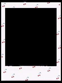 さくらんぼフレームの画像(フォトフレームに関連した画像)