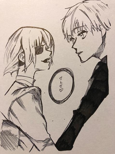 東京喰種RE 一発描きの画像(プリ画像)