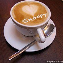 Snoopyの画像(ラテアートに関連した画像)