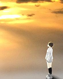 夕日に照らされての画像(プリ画像)