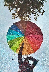 rainbow umbrella プリ画像