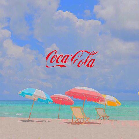 コカ・コーラ&海の画像(プリ画像)