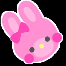 ピンクうさぎちゃん加工スタンプ❤️ プリ画像