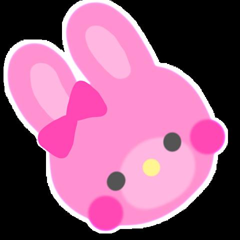 ピンクうさぎちゃん加工スタンプ❤️の画像 プリ画像