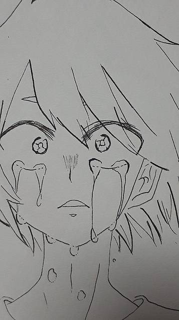 切島くんの泣き顔(妄想) 詳細チェックの画像(プリ画像)