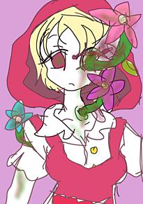 お花が生えた女の子の画像(プリ画像)