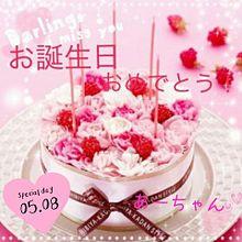 花のバースデーケーキの画像(プリ画像)