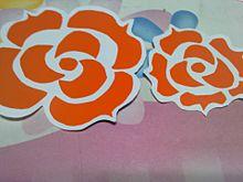 オレンジローズ プリ画像