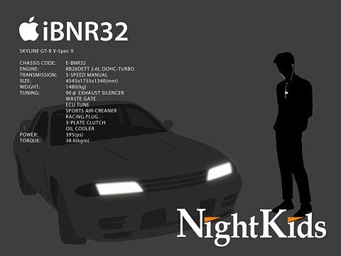 頭文字D/妙義NightKids/GT-R32/中里毅の画像(プリ画像)
