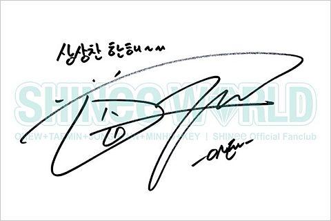 SHINee オンユ サインの画像(プリ画像)