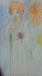 神威、花火大会へ行くの画像(プリ画像)