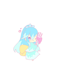 フォークを抱いてるふぶき姫の画像(フォークに関連した画像)