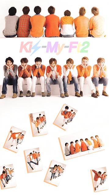 Kis-My-Ft2全員iPhone壁紙サイズ中央横10.4の画像(プリ画像)