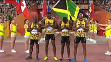 ジャマイカ陸上4×100の画像(プリ画像)