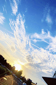 空 おしゃれ 綺麗 高画質 夕日の画像(景色に関連した画像)