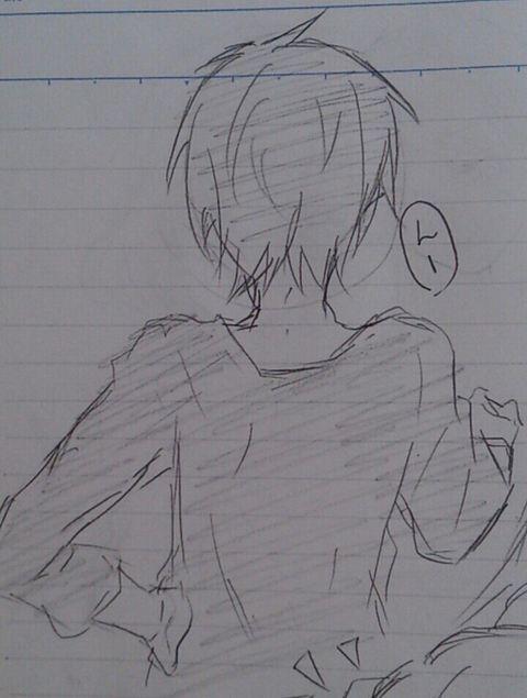 イケニートの後ろ姿の画像(プリ画像)