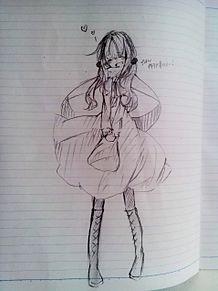 友達が描いた女の子 プリ画像