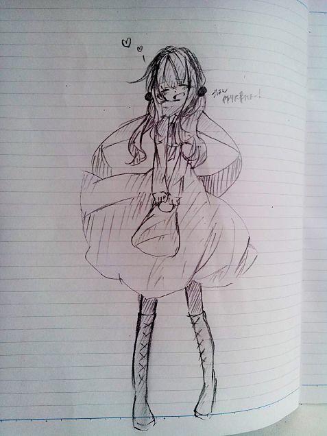 友達が描いた女の子の画像(プリ画像)