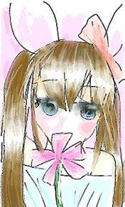 ウサギ系女子の画像(プリ画像)