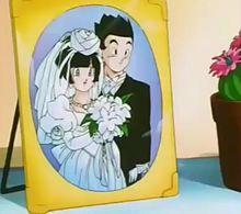悟飯とビーデル 結婚の画像(ドラゴンボールGTに関連した画像)