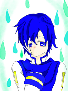 泣いてるKAITOの画像(プリ画像)