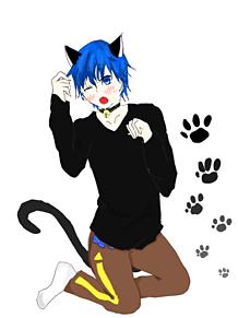 KAITO(猫)描きましたの画像(プリ画像)