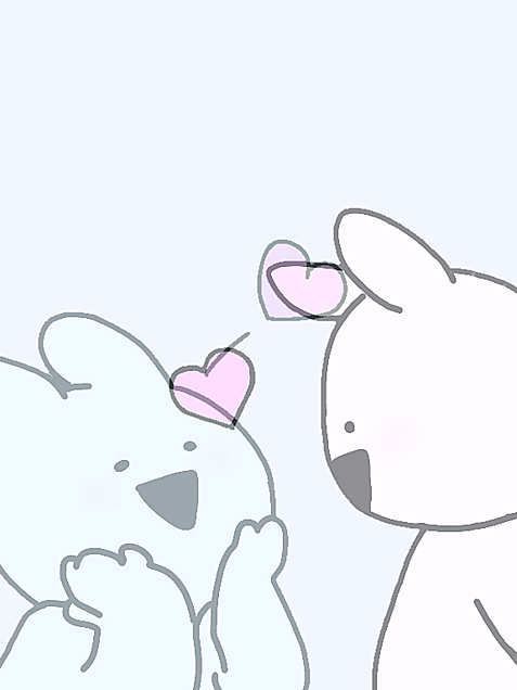 すこぶるうさぎ❤両想い♡の画像(プリ画像)