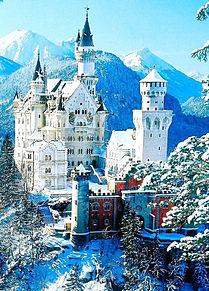 冬のノイシュバンシュタイン城 ドイツの画像(ドイツに関連した画像)
