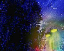 夜空画像 少し絵画風?の画像(プリ画像)