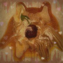 マロンパンケーキが溶けて動物キャラ風に?の画像(プリ画像)