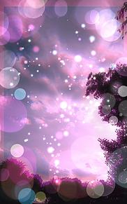 暖かい&冷たいピンクフィルターの二重露光 空画像の画像(プリ画像)