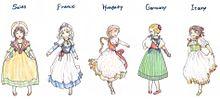ヨーロッパの民族衣装比較の画像(民族衣装に関連した画像)