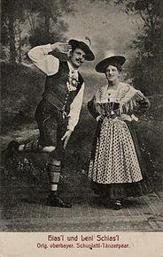 ドイツの民族衣装を着た男女の画像(民族衣装に関連した画像)