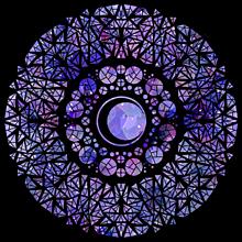 巌勝様イメージのステンドグラスの画像(ステンドグラスに関連した画像)