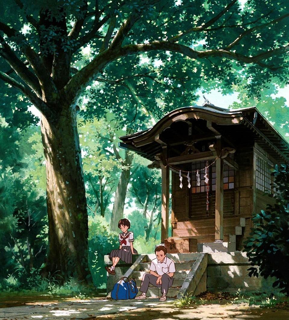 耳をすませば神社の月島雫と杉村