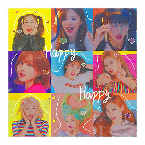 TWICE HAPPY HAPPY ♡の画像(プリ画像)