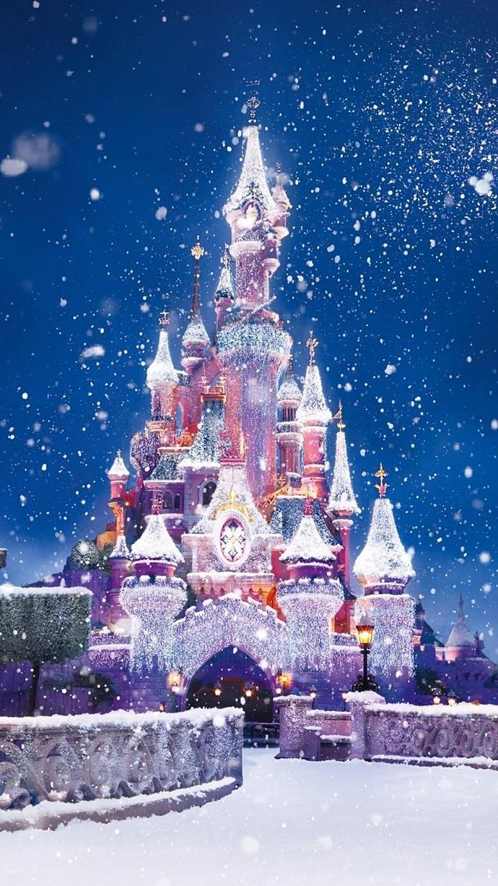 冬のシンデレラ城