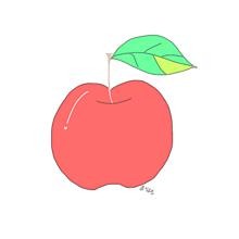 おしゃれ りんご イラスト