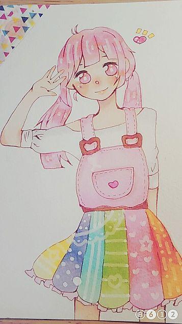 原宿系(?)女子の画像(プリ画像)