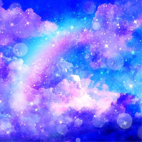 キラキラ虹の空の画像(プリ画像)