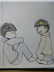 おそ松さん    一松×十四松 プリ画像