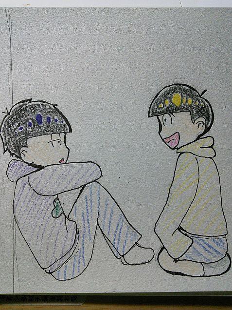 おそ松さん    一松×十四松の画像(プリ画像)