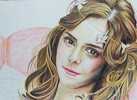 エマ・ワトソン 似顔絵の画像 プリ画像