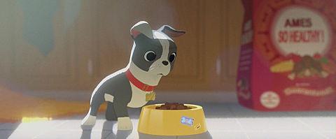 愛犬とごちそうの画像(プリ画像)