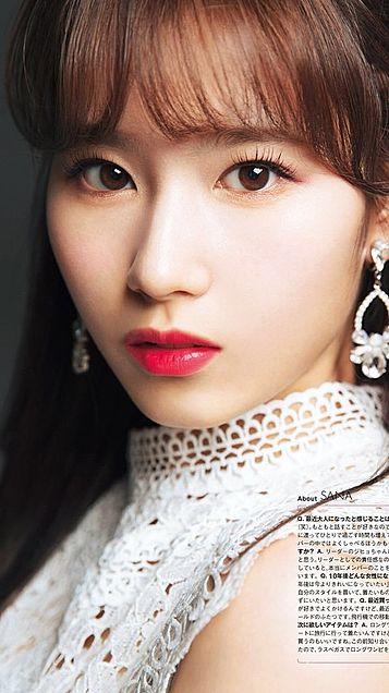 TWICE サナ かわいい かっこいい 韓国 無地 女の子の画像(プリ画像)