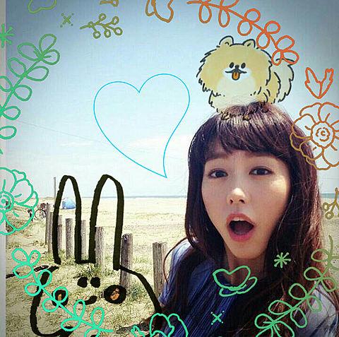 桐谷美玲さんとぴよたそイラストの画像 プリ画像